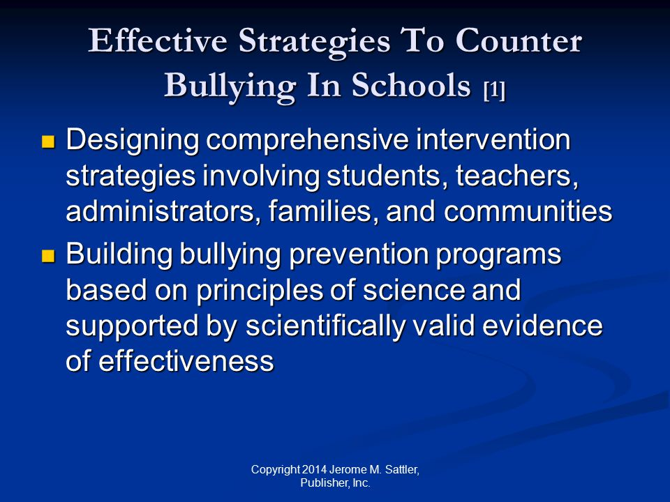 Effective Strategies To Counter Bullying In Schools [1]